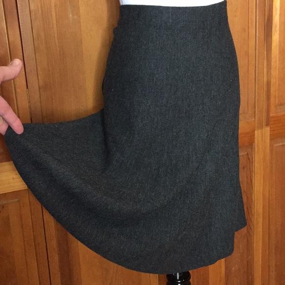 Anthropologie Dresses & Skirts - Anthropologie MAEVE 12 SKATER GREY wool blend NEW